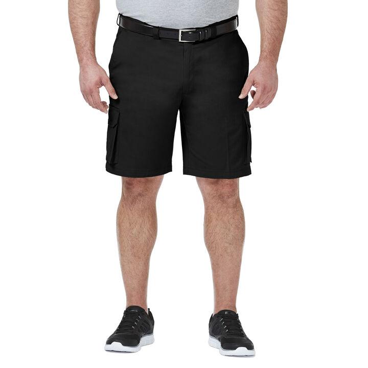 Big & Tall Stretch Cargo Short, Black