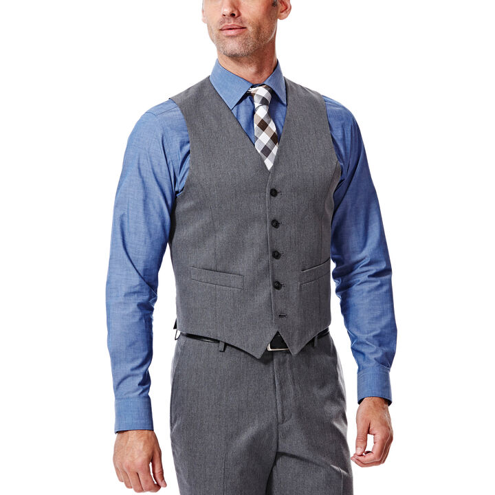 Heather Gabardine Suit Vest, , hi-res
