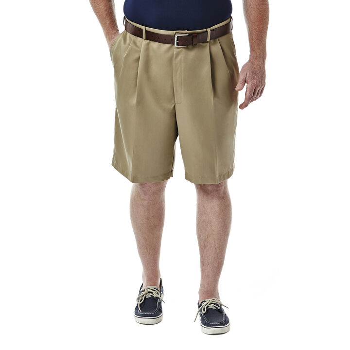 BIG & TALL Cool 18® Shorts, British Khaki, hi-res