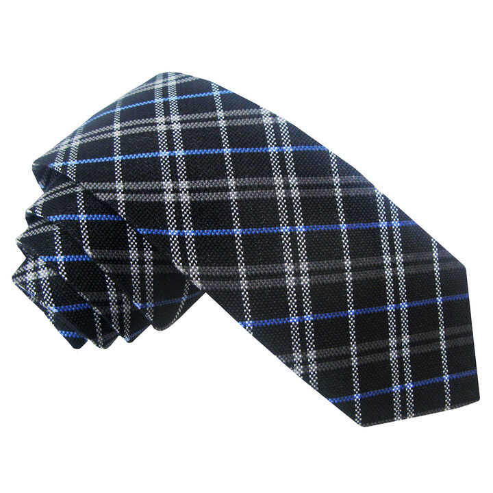 Wool Blend Plaid Tie, , hi-res