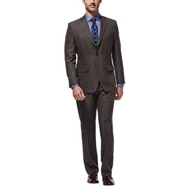 Travel Performance Suit Separates Jacket, Brown Heather