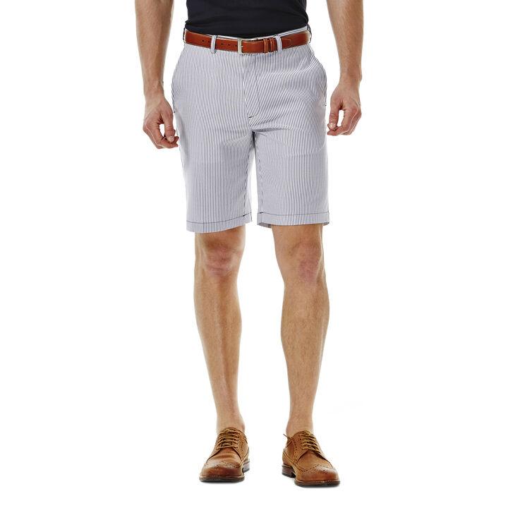 Cool 18® Seersucker Stripe Short, Dark Navy, hi-res
