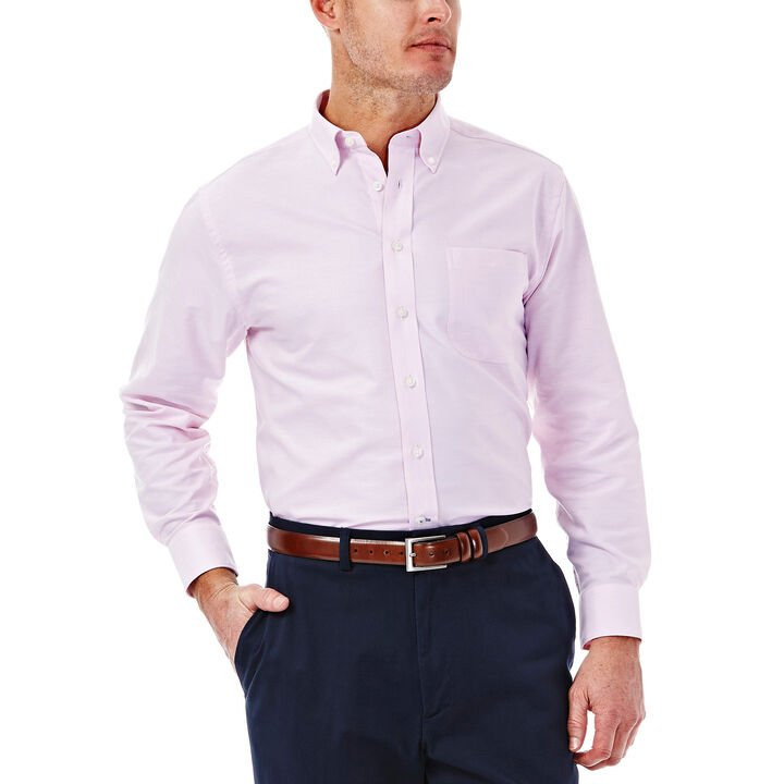 Solid Oxford Dress Shirt, Pink