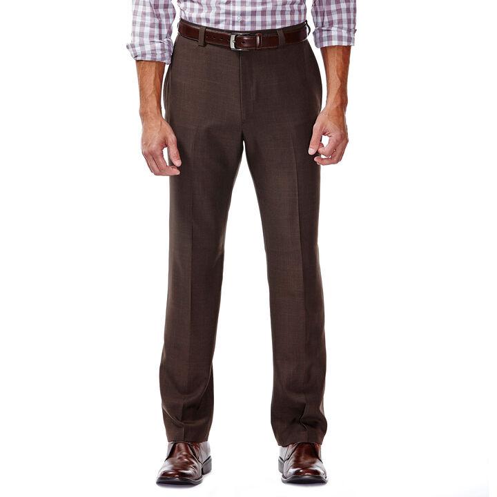 E-CLO™ Stria Dress Pant, Brown, hi-res