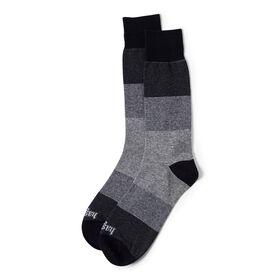 Color Block Stripe Sock, Black