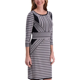 Boat Neck Dress, Charcoal