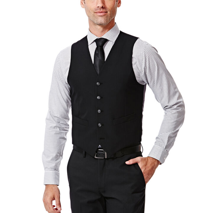 Plain Weave Suit Vest, , hi-res