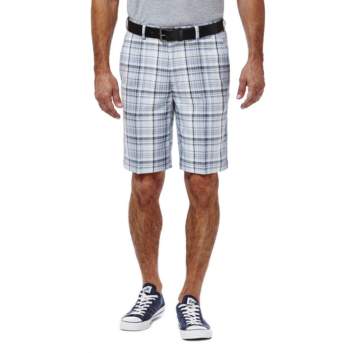 Cool 18® Multi Plaid Short, Light Blue, hi-res