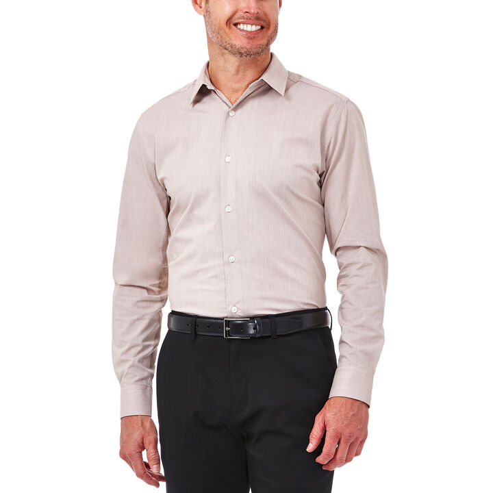 Solid Oxford Dress Shirt, Tan, hi-res