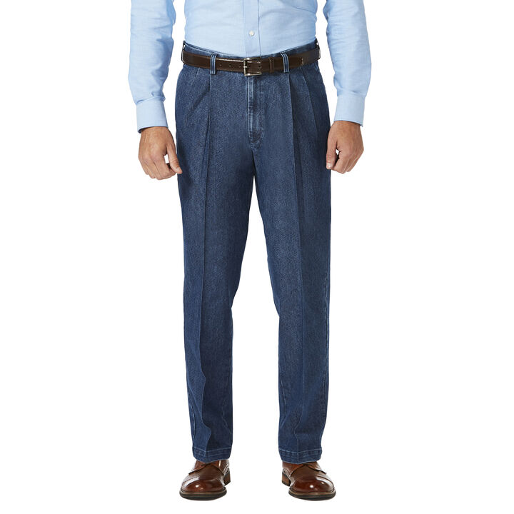 Stretch Denim Trouser, Medium Blue, hi-res