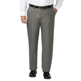 Big & Tall J.M. Haggar Dress Pant - Sharkskin, Medium Grey