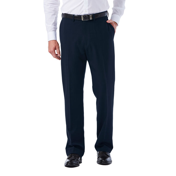 Big & Tall E-CLO™ Tonal Plaid Dress Pant, Navy, hi-res