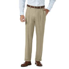 J.M. Haggar Dress Pant - Sharkskin, Oatmeal