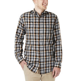 Long Sleeve Plaid , Charcoal