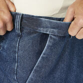 Stretch Denim Trouser, Medium Blue, hi-res 4