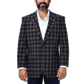 Tartan Plaid Sport Coat, Chocolate