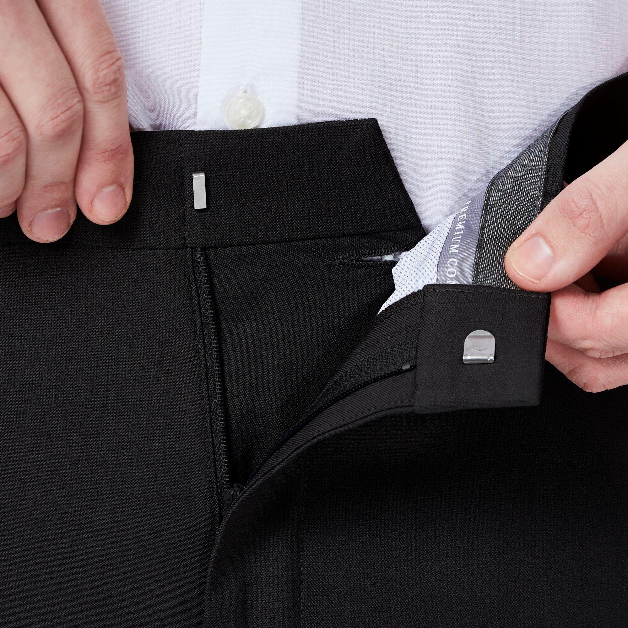 big front comforter comfort fit pant waist classic amp premium tall hidden expandable flat dress jeans waistband and