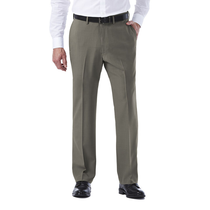 E-CLO™ Stria Dress Pant, Heather Grey, hi-res