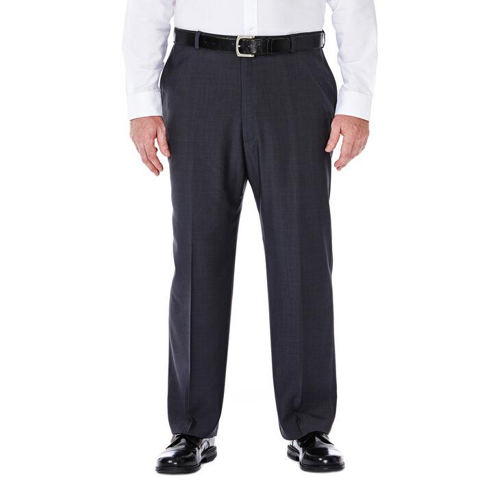 Big & Tall E-CLO™ Stria Dress Pant, Medium Grey, hi-res
