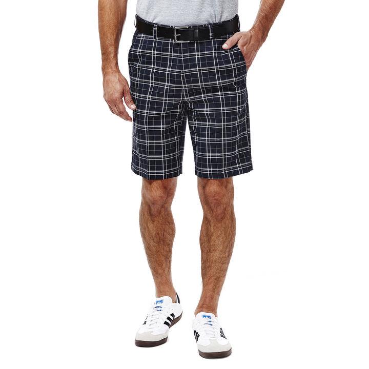 Cool 18®  Woven Plaid Short, Navy, hi-res