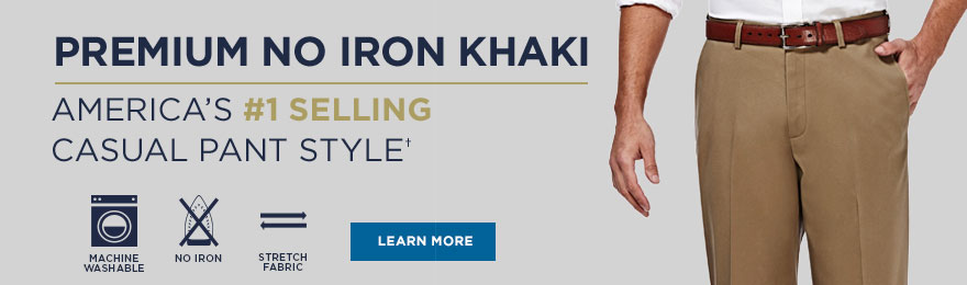 Premium No Iron Khaki Collection Banner