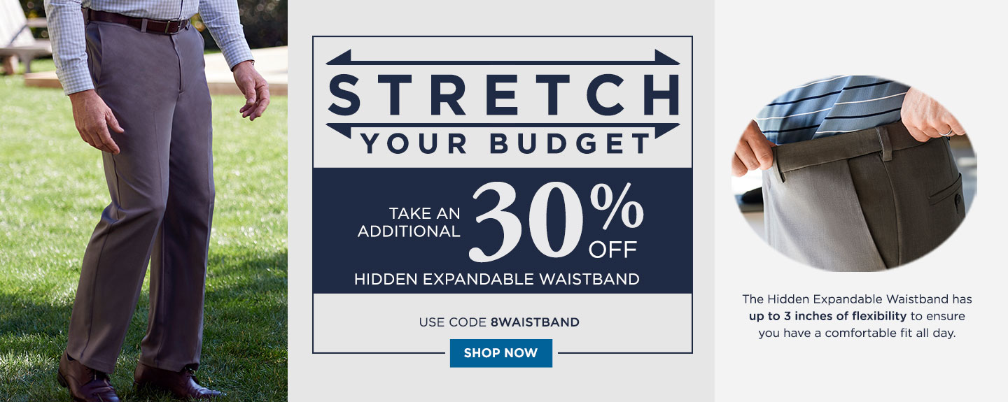 30% off Hidden Expandable Waistband