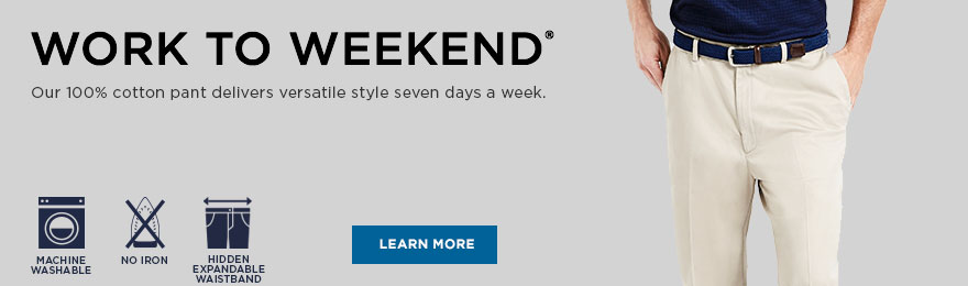 Work to Weekend® Collection Banner