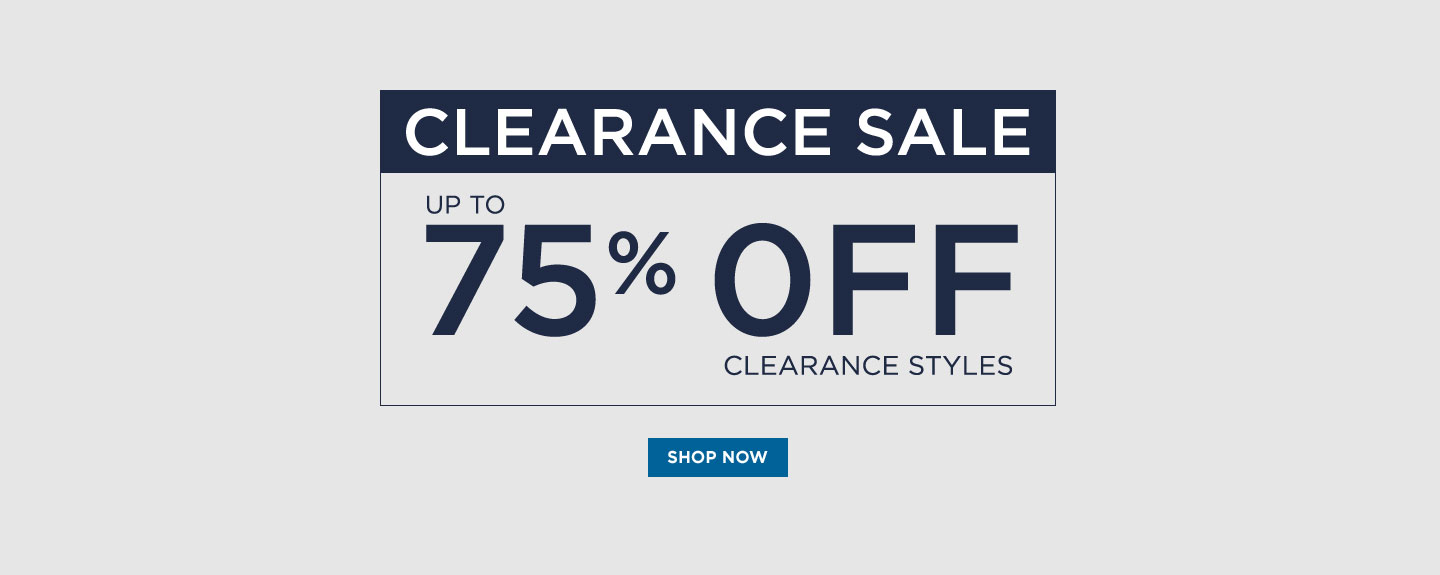 Clearance Sale: Up to 75% off Clearance