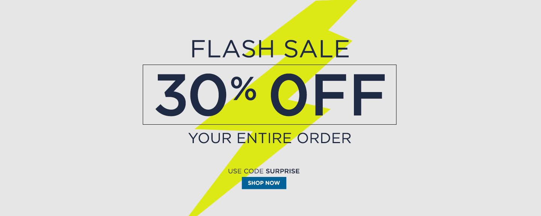 30% off Flash Sale
