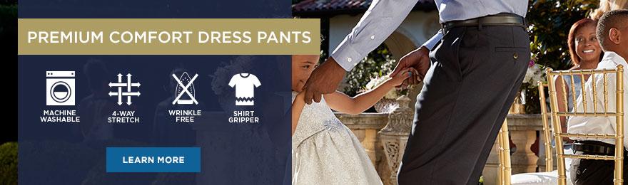 Premium Comfort Dress Pant Collection Banner