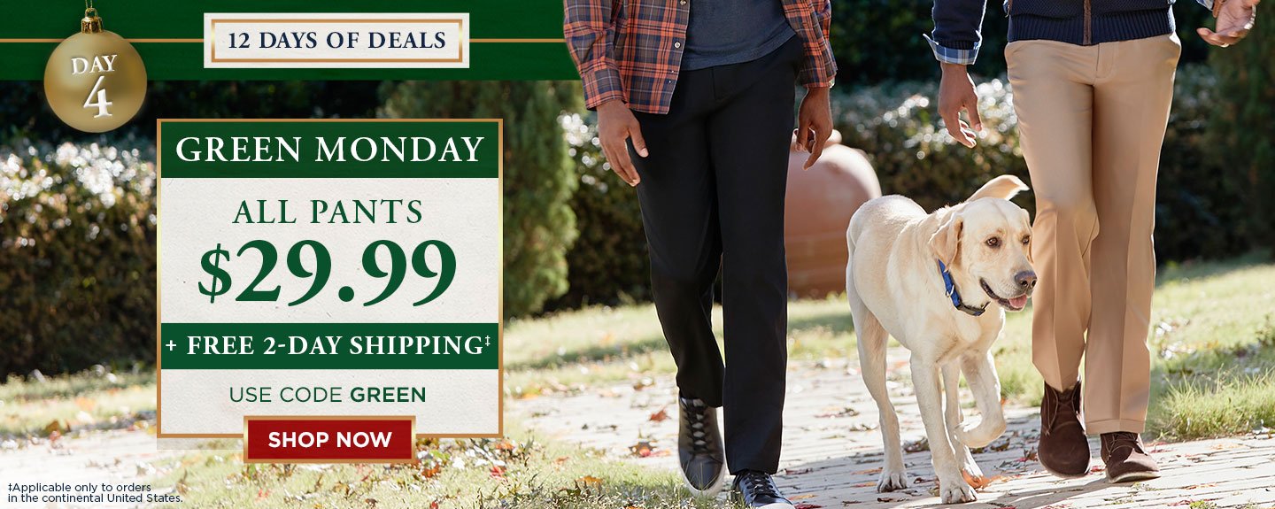 All Pants $29.99 + Free 2day Shipping