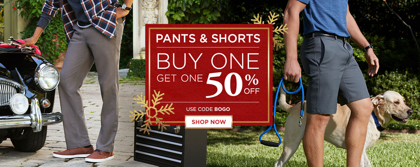 All Pants and Shorts BOGO 50% off