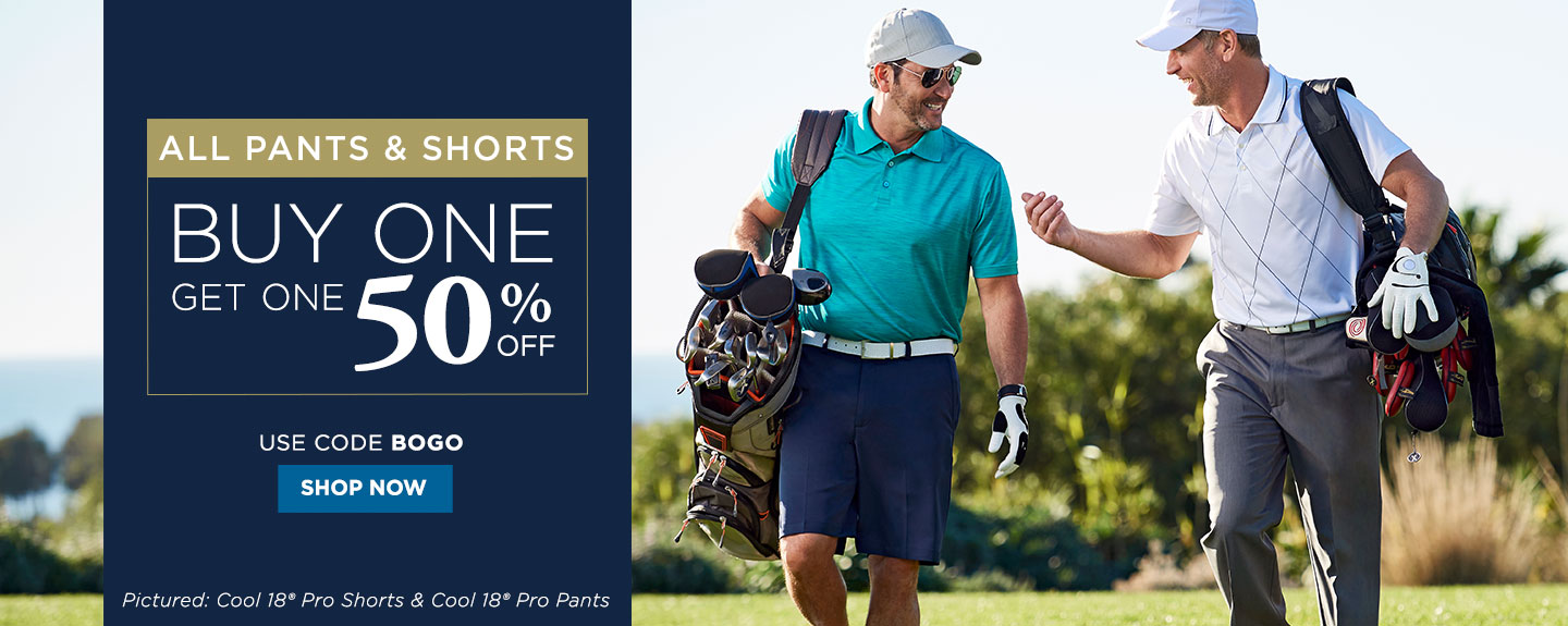 All Pants and Shorts Buy One Get One 50% off