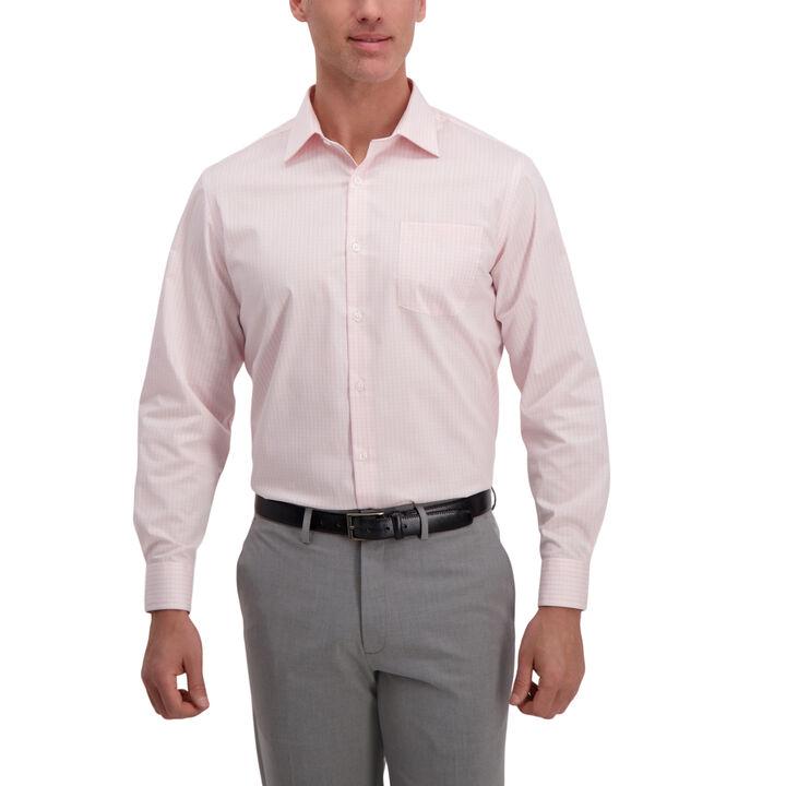 Rose Plaid Premium Comfort Dress Shirt, Pink open image in new window