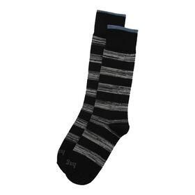 Rugby Stripe Sock, Black / Charcoal