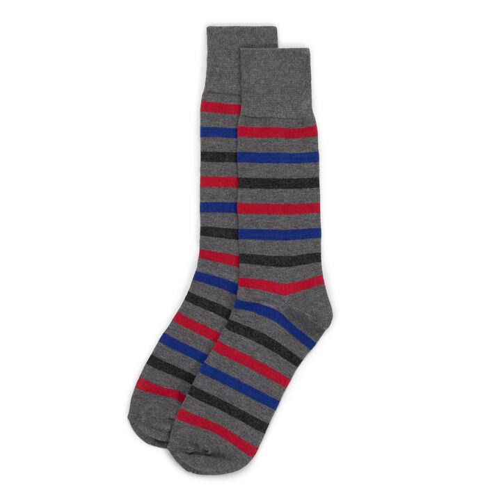 Striped Sock, Grey