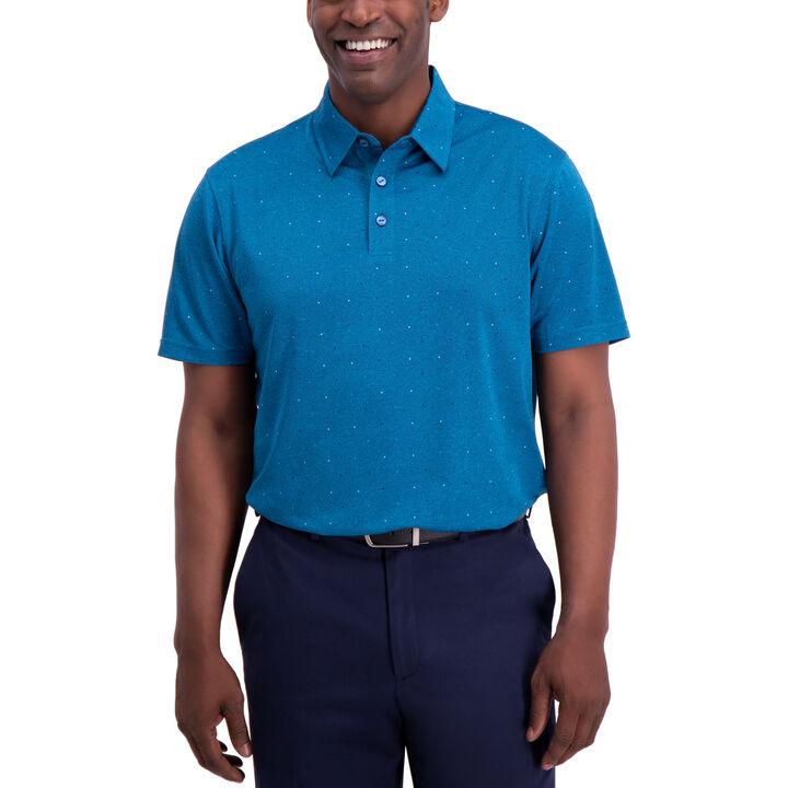 Dot Button Down Shirt, Aspen Blue
