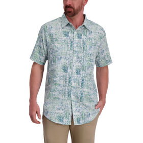 Green Tiki Shirt, Seaweed Cove