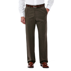 Big & Tall Premium Stretch Solid Dress Pant, Medium Brown