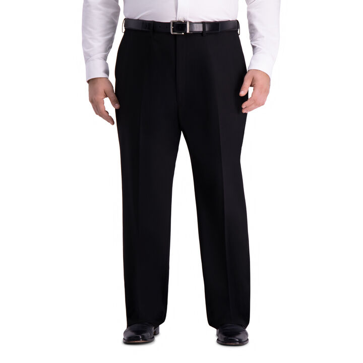 Big & Tall J.M. Haggar 4-Way Stretch Suit Pant, Black