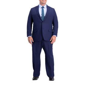 Big & Tall Active Series Herringbone Suit Jacket, Midnight