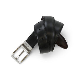 Reversible Leather Dress Belt, Black