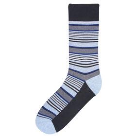 Multi Stripe Sock, Black