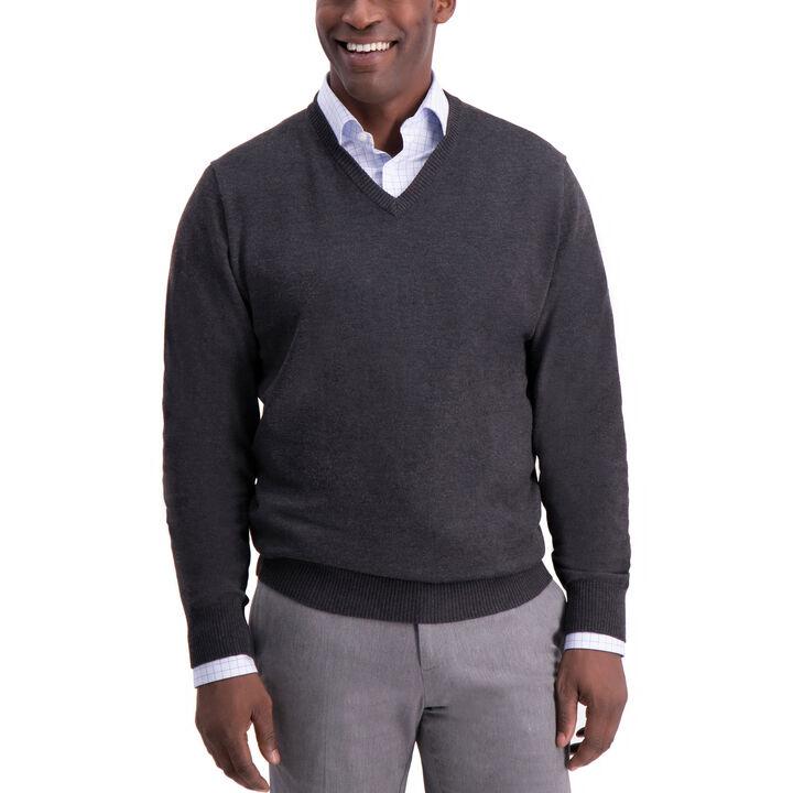 V-Neck Sweater, Bean