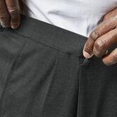 Big & Tall J.M. Haggar Premium Stretch Suit Pant - Pleated Front, Medium Grey view# 4