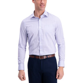 Striped Premium Comfort Dress Shirt, Light Blue