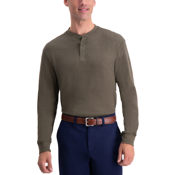 Thermal Henley,  Olive