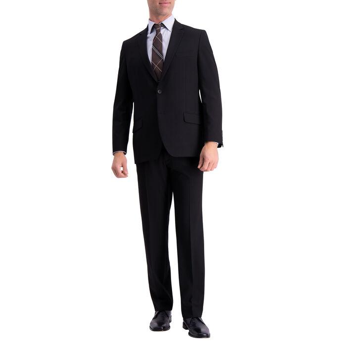 J.M. Haggar 4-Way Stretch Suit Jacket, Black, hi-res