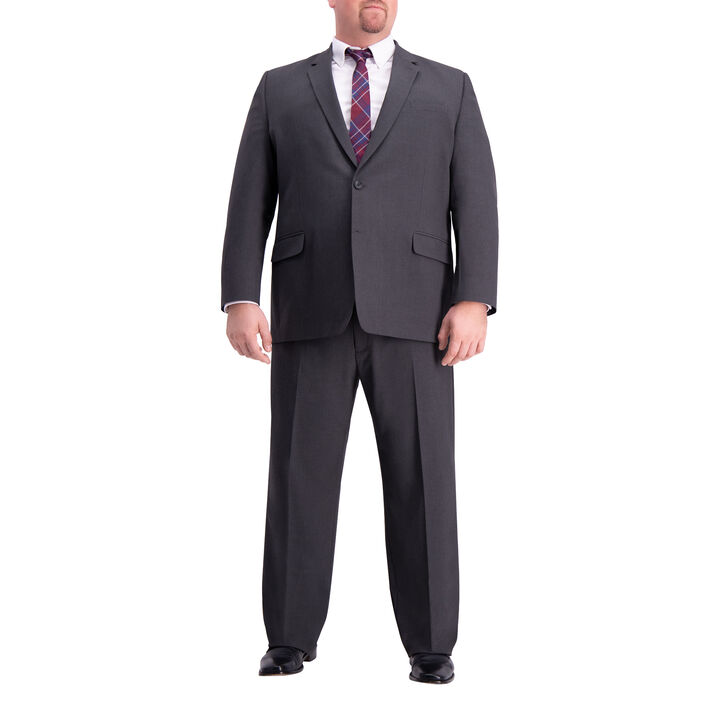 Big & Tall J.M. Haggar 4-Way Stretch Suit Jacket, Charcoal Heather, hi-res