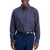 Heathered Gingham Shirt, Navy 1